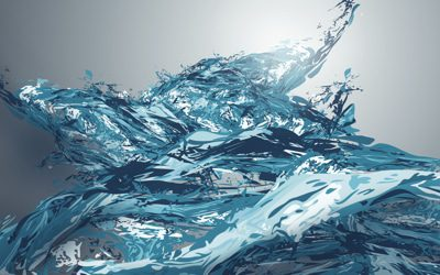 beautiful sea waves illustration