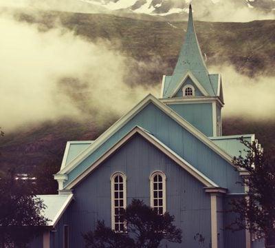 Church on Iceland coast