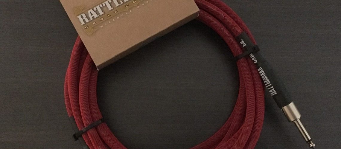 RATTLESNAKE-CABLES-15-Guitar-Cable-Straight-to-Right-Angle-Custom-Red-252349164369